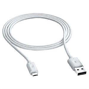 USB CABLE - MICRO usb 3 meter white (5196)