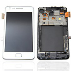 Vitre tactile, LCD et chassis pour Galaxy S2 i9100, Blanc