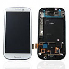 Vitre tactile, LCD, chassis et bouton home pour Galaxy S3 i9300, Blanc